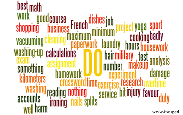 ''to do'' - angielskie kolokacje z czasownikiem ''to do''. Angielski - zwroty z czasownikiem do.