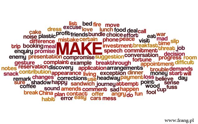 ''to make'' - angielskie kolokacje z czasownikiem ''to make''. Angielski - zwroty z czasownikiem make.