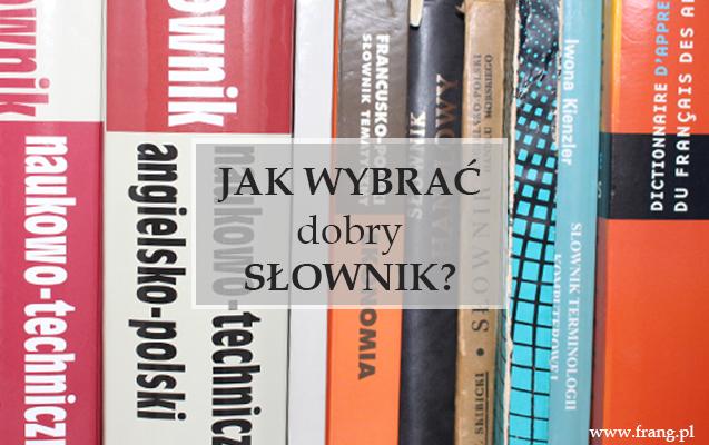 Słownik - jak wybrać.