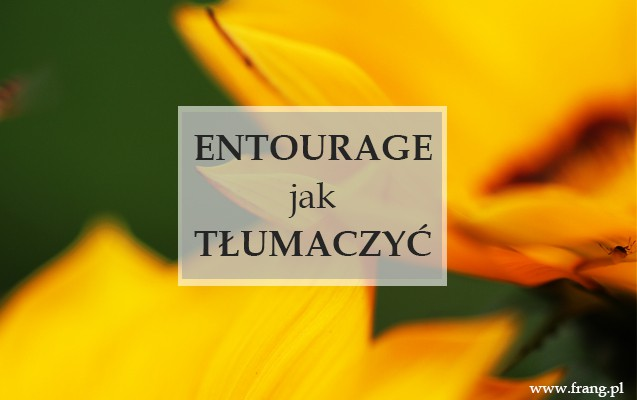 ENTOURAGE - JAK TŁUMACZYĆ NA JĘZYK  POLSKI FRANCUSKIE SŁOWO ''ENTOURAGE''?