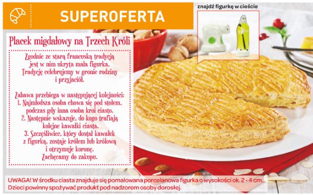 Francuskie ciasto migdałowe, czyli ''la galette de rois''.