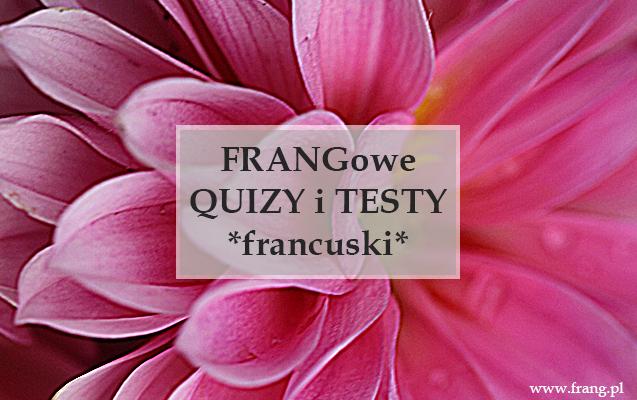 Testy i quizy z języka francuskiego.