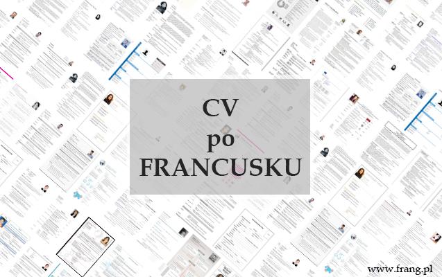 CV po francusku
